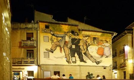 Mural de Los Borrachos en Haro