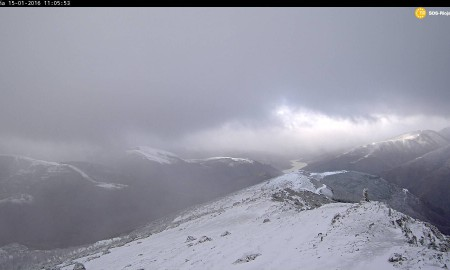Primeras nieves del invierno en la sierra riojana
