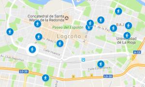 Mapa de Atropellos en Logroño