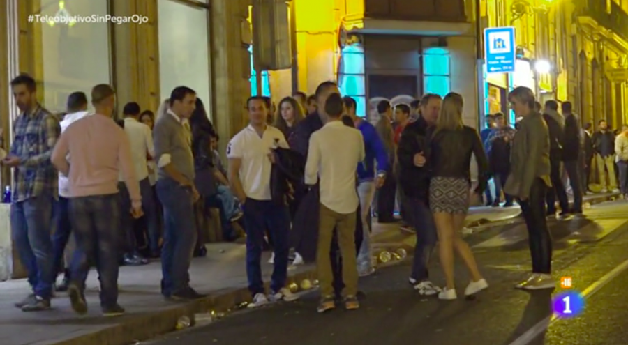 Discoteca calle recogidas