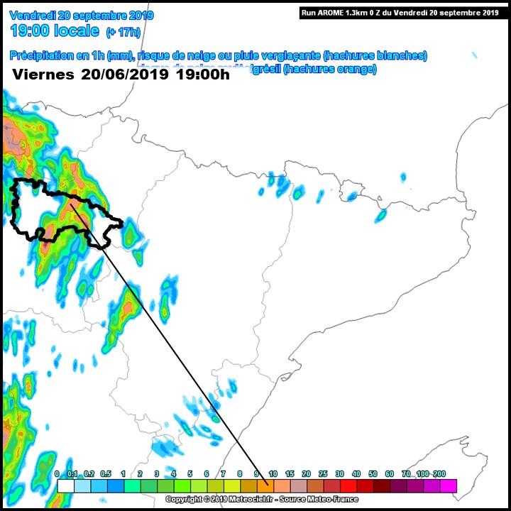 Previsión Precipitación AROME. Meteosojuela