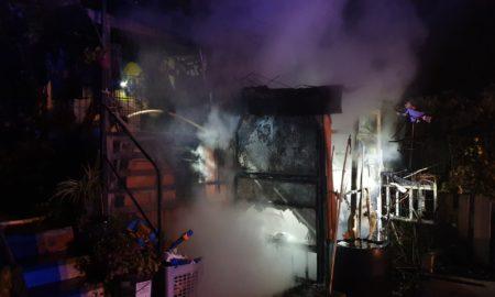 Incendio en El Cortijo   Foto: Bomberos de Logroño